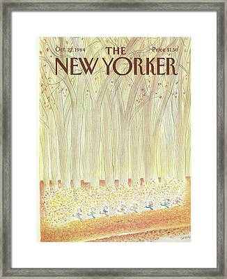 New Yorker October 22nd, 1984 Framed Print by Jean-Jacques Sempe