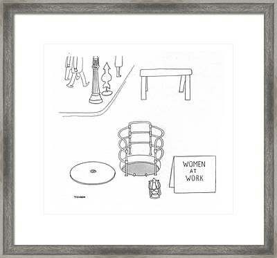 New Yorker October 24th, 1942 Framed Print by Saul Steinberg