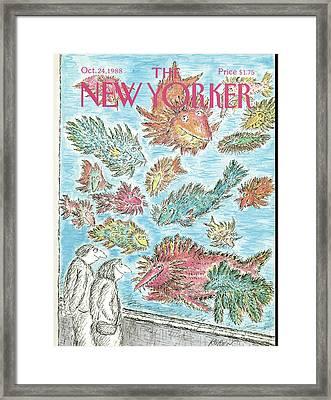 New Yorker October 24th, 1988 Framed Print by Edward Koren