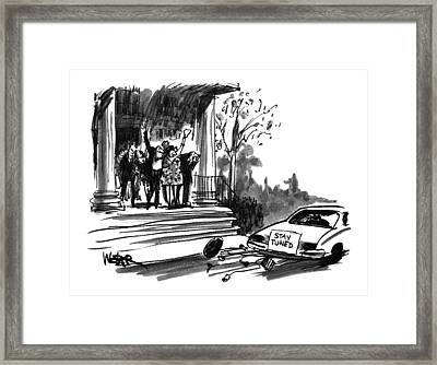 New Yorker October 24th, 1994 Framed Print by Robert Weber