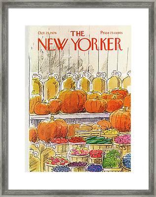 New Yorker October 25th, 1976 Framed Print