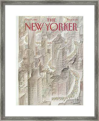New Yorker October 25th, 1982 Framed Print by Jean-Jacques Sempe