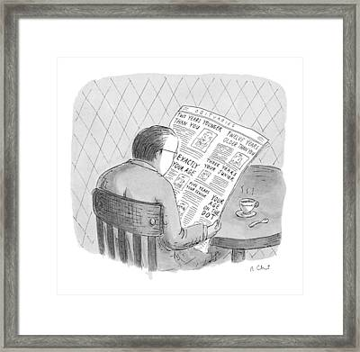 New Yorker October 25th, 1993 Framed Print by Roz Chast
