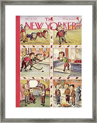 New Yorker October 26th, 1940 Framed Print by William Steig