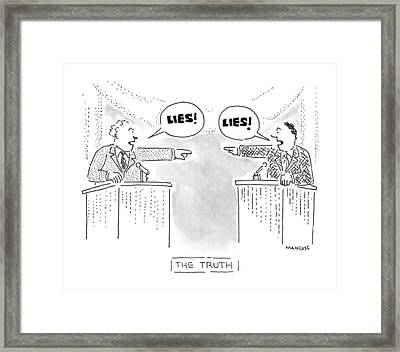 New Yorker October 26th, 1992 Framed Print