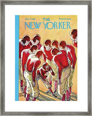 New Yorker October 27th, 1928 Framed Print by Peter Arno