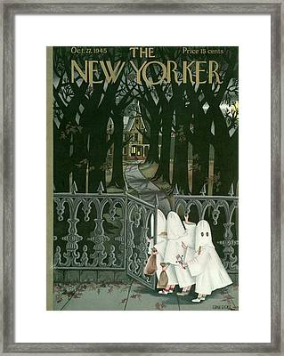 New Yorker October 27th, 1945 Framed Print by Edna Eicke