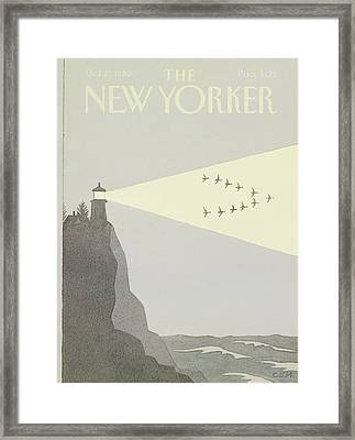 New Yorker October 27th, 1980 Framed Print by Charles E. Martin