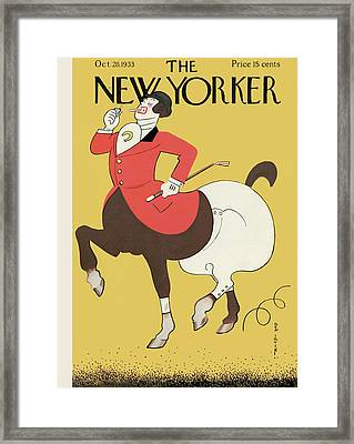 New Yorker October 28th, 1933 Framed Print by Rea Irvin