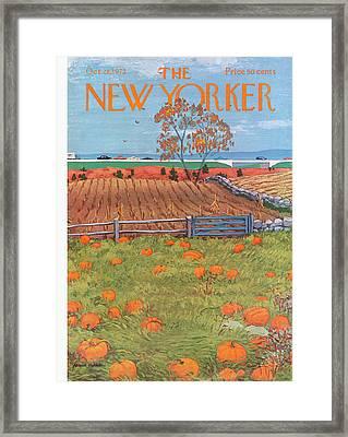New Yorker October 28th, 1972 Framed Print