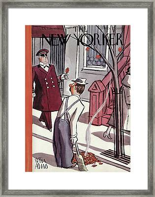 New Yorker October 29th, 1938 Framed Print by Peter Arno