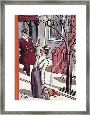 New Yorker October 29th, 1938 Framed Print
