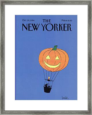 New Yorker October 29th, 1984 Framed Print by Arnie Levin