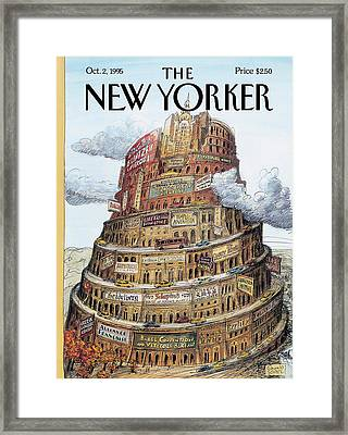 New Yorker October 2nd, 1995 Framed Print