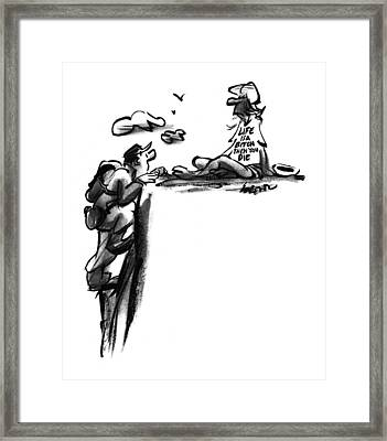 New Yorker October 31st, 1994 Framed Print by Lee Lorenz