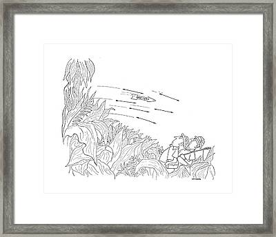 New Yorker October 3rd, 1942 Framed Print by Saul Steinberg