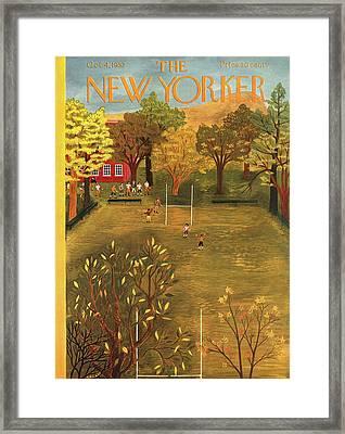 New Yorker October 4th, 1952 Framed Print by Ilonka Karasz