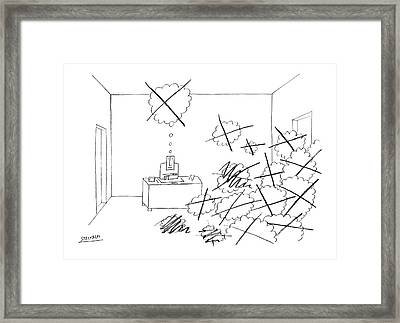 New Yorker October 4th, 1969 Framed Print by Saul Steinberg