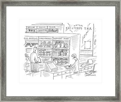 New Yorker October 4th, 1999 Framed Print by Mick Stevens