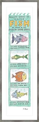 New Yorker October 4th, 1999 Framed Print by Roz Chast