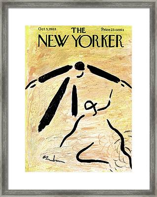 New Yorker October 5th, 1963 Framed Print by Abe Birnbaum