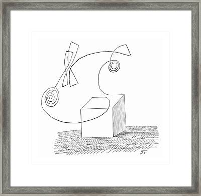 New Yorker October 5th, 1963 Framed Print by Saul Steinberg