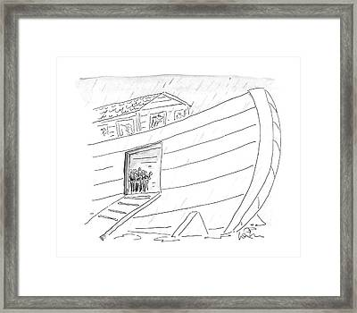 New Yorker October 5th, 1987 Framed Print by Arnie Levin
