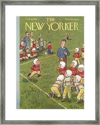 New Yorker October 6th, 1956 Framed Print by William Steig