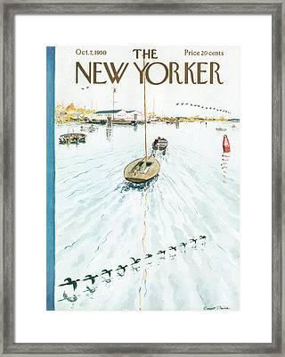 New Yorker October 7th, 1950 Framed Print by Garrett Price