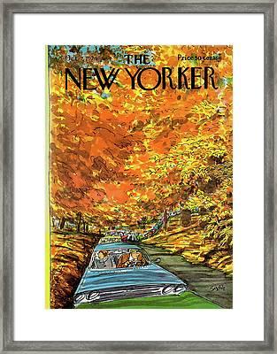 New Yorker October 7th, 1974 Framed Print