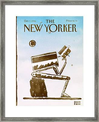 New Yorker October 7th, 1991 Framed Print by R.O. Blechman