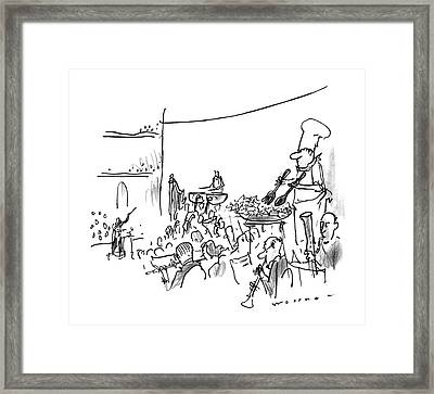 New Yorker October 7th, 1996 Framed Print by Bill Woodman