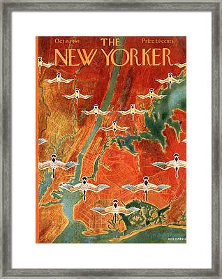 New Yorker October 8th, 1949 Framed Print by Reginald Massie