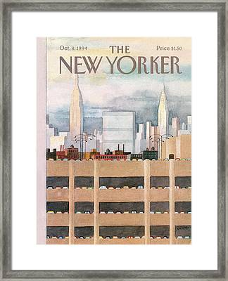 New Yorker October 8th, 1984 Framed Print by Charles E. Martin