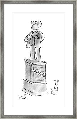 New Yorker October 8th, 1990 Framed Print by Arnie Levin