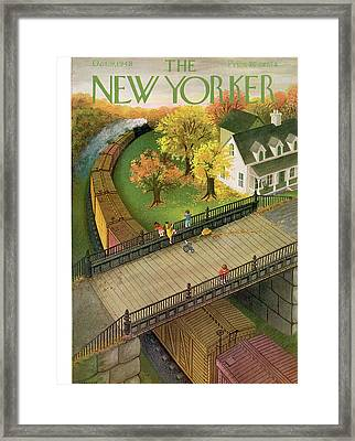 New Yorker October 9th, 1948 Framed Print by Edna Eicke