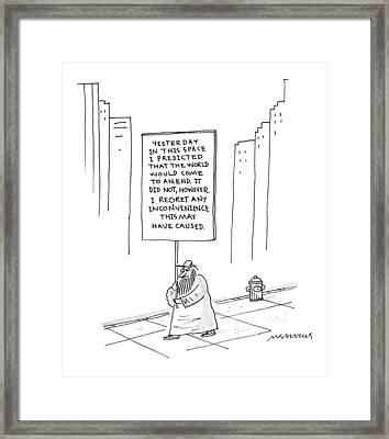 New Yorker October 9th, 1995 Framed Print