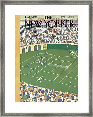 New Yorker September 10th, 1932 Framed Print by Theodore G. Haupt