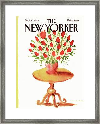 New Yorker September 10th, 1984 Framed Print by Abel Quezada