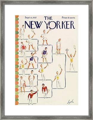 New Yorker September 11th, 1937 Framed Print by Constantin Alajalov