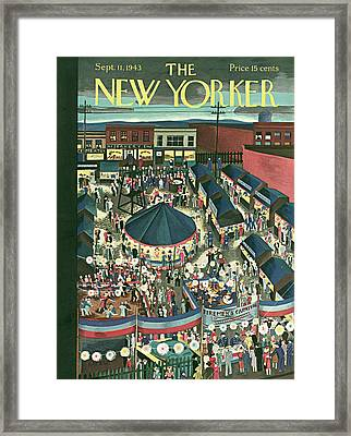 New Yorker September 11th, 1943 Framed Print by Ilonka Karasz