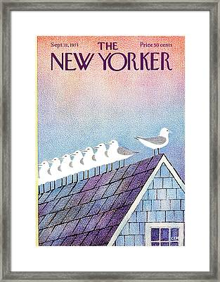 New Yorker September 11th, 1971 Framed Print by Charles E. Martin