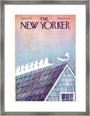 New Yorker September 11th, 1971 Framed Print