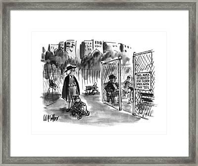 New Yorker September 11th, 1995 Framed Print by Warren Miller