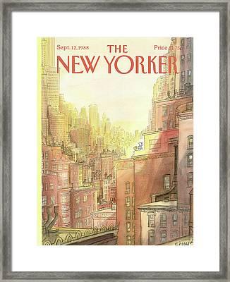 New Yorker September 12th, 1988 Framed Print