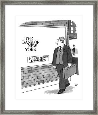 New Yorker September 13th, 1999 Framed Print by J.B. Handelsman