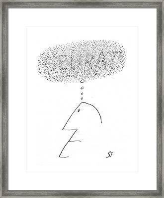 New Yorker September 14th, 1968 Framed Print by Saul Steinberg