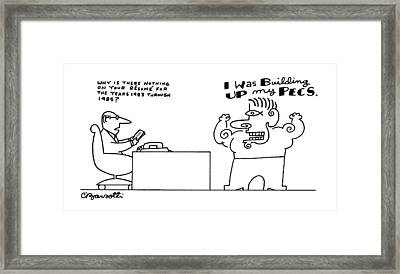 New Yorker September 14th, 1987 Framed Print by Charles Barsotti