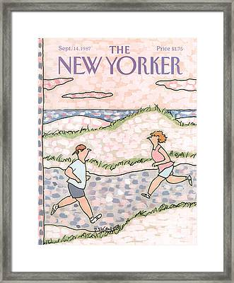New Yorker September 14th, 1987 Framed Print by Devera Ehrenberg