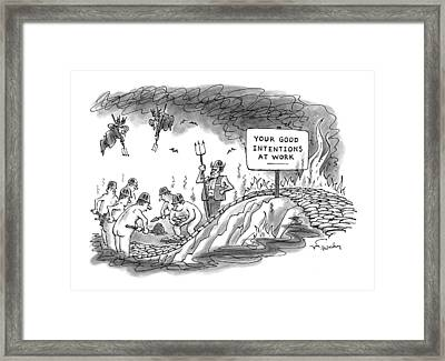 New Yorker September 14th, 1998 Framed Print by Mike Twohy